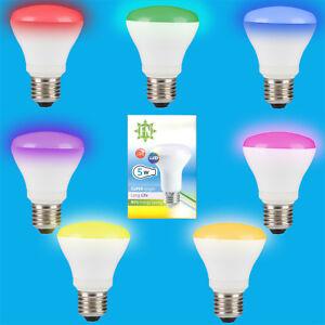 10x-5w-LED-R63-de-Color-Reflector-Disco-Bombilla-Foco-ES-E27-Lampara-Rosca