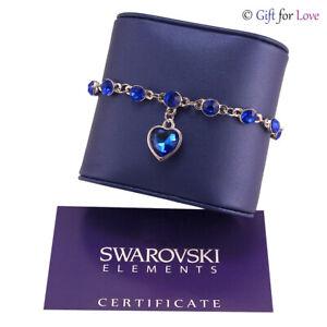 Bracciale-donna-argento-Swarovski-Elements-originale-G4Love-cristalli-cuore-blu