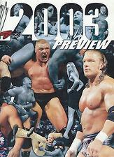 WWE 2003 Preview Official Program Brock Lesnar Trish Stratus Triple H Undertaker