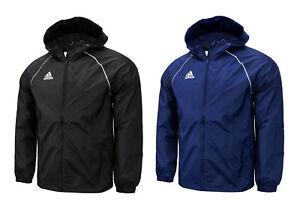 006260bec77b4 Details about Adidas Core 18 Rain Jacket (CE9048) Wind Break Hoodie  Windbreaker Hooded Top