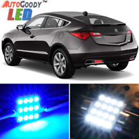 4 x Premium Blue LED Lights Interior Package Deal for Acura ZDX 2010-2012 + Tool