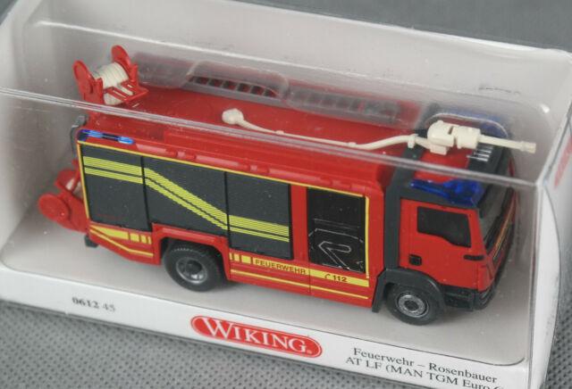 Wiking 1:87,Rosenbauer MAN AT Feuerwehr Vorführfahrzeug DE Sondermodell OVP