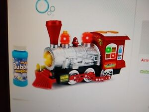 Kids-Toy-Blowing-Bubble-Train-Car-Music-Lights-and-Bump-039-n-039-Go-Battery-Operated