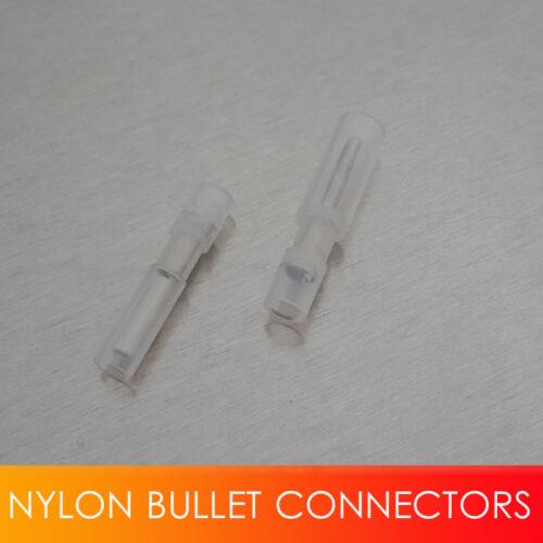 50pcs Female Nylon Bullet Connector Terminals Unique 26-22Ga White 50pcs Male