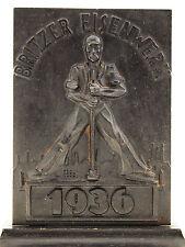 BÜCHERSTÄNDER MIT STAHLARBEITER - BRITZER EISENWERKE 1936 - DEUTSCHLAND 193
