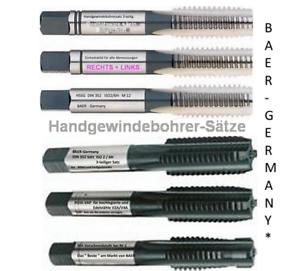 BAER-Gewindebohrer Satz Handgewindebohrer Gewindeschneider M1 M20 zur Auswahl