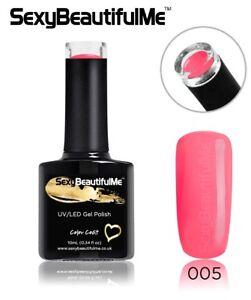 SBM-Classic-Gel-Nail-Polish-UV-LED-GEL-NAIL-Soak-Off-10ml-Bottl-C005-Blush-Pink