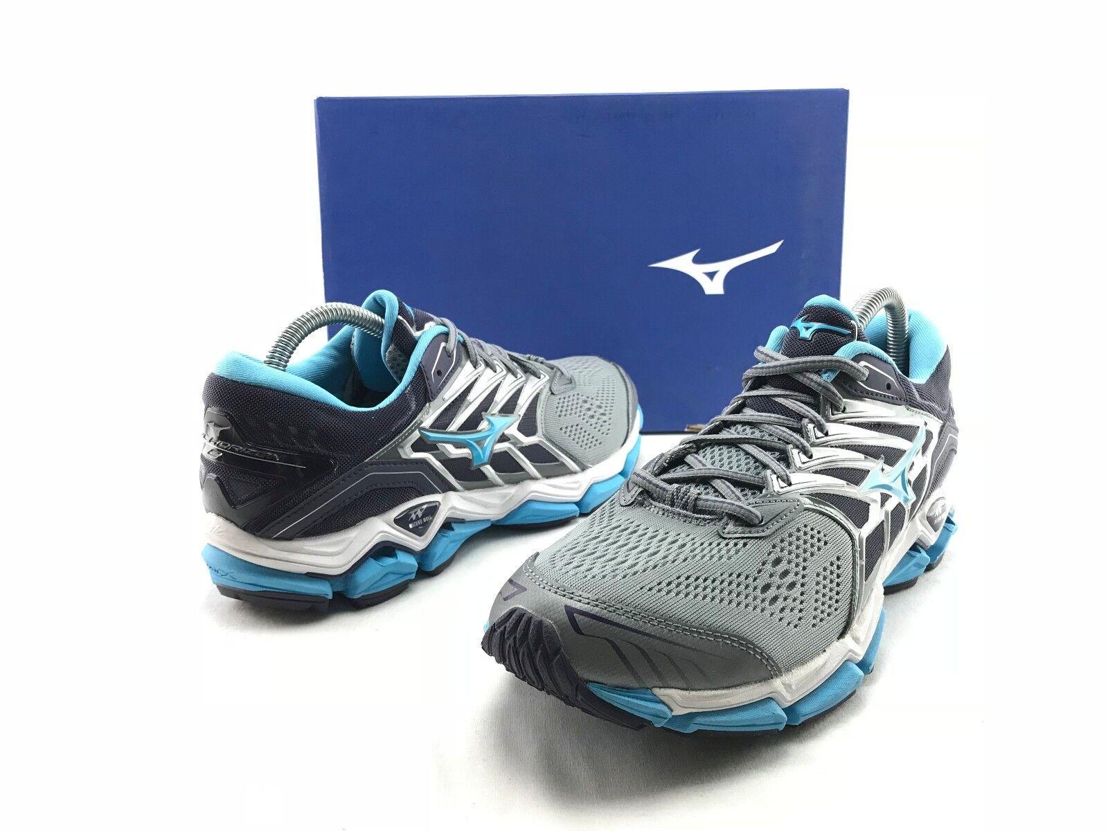 Mizuno Wave Horizon 2 Women's Grey Blue Training Running Sneakers US 11 B701