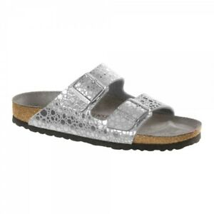 3b85a7d6c58 Image is loading Birkenstock-ARIZONA-1011913-Nar-Ladies-Women-Sandals- Metallic-