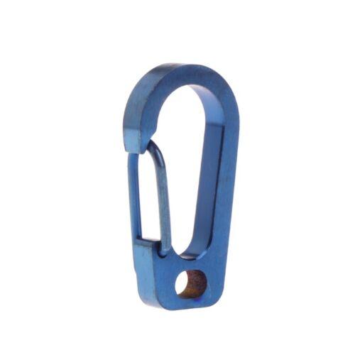 Titanium Alloy Carabiner Keychain Spring Flat Hole D Flashlight Buckle EDC Tool