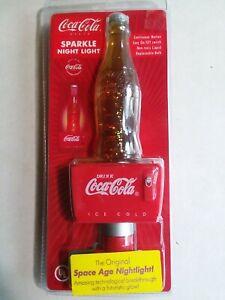 Coca Cola Sparkle Night Light Continuous Motion Space Age Marvel
