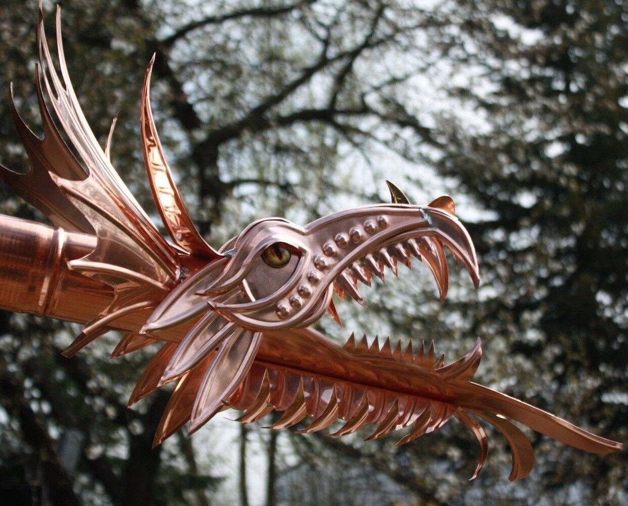 Kupfer-Wasserspeier  Wisagund , Drachen, Drachenkopf, Dragon, Ablauf, DN 76