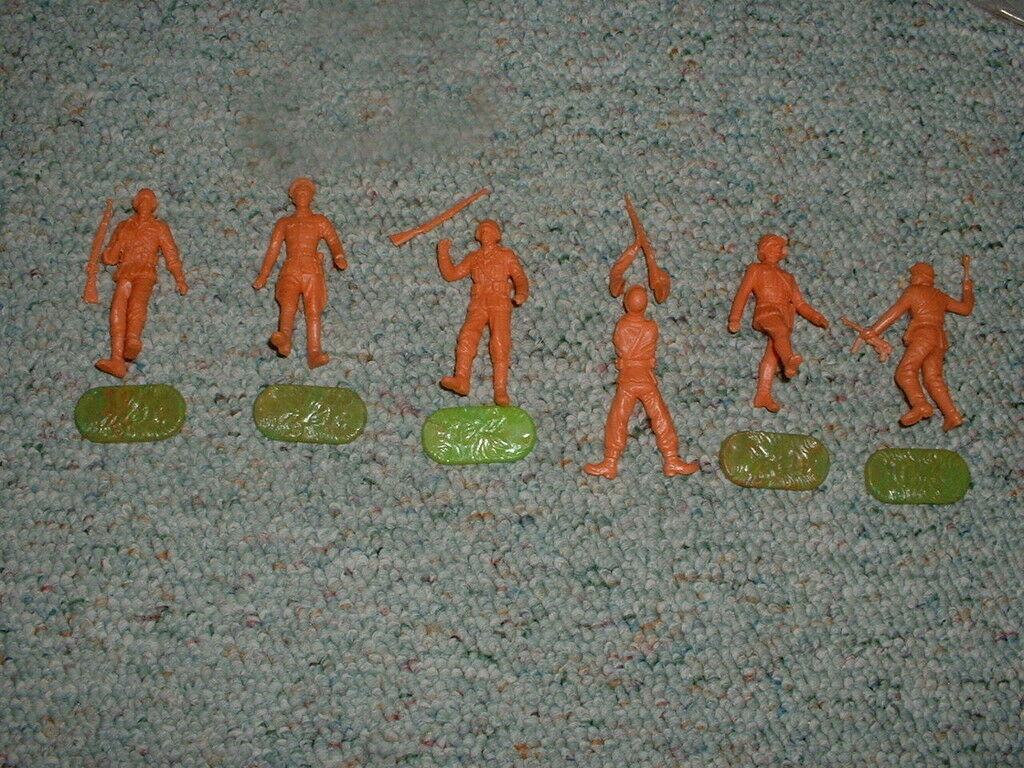 Elastolin 70mm Unpainted WW2 German Infantry in action x6  Lot D