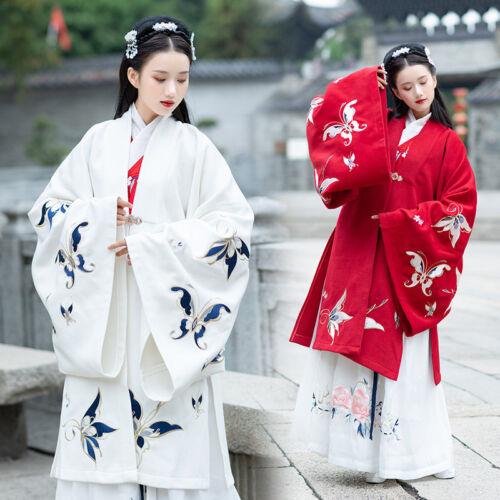 Hanfu Chic Butterfly D843 Coat Kvinders Udskrivning Tradition Stor Broderi Ærme wTO8IUOq