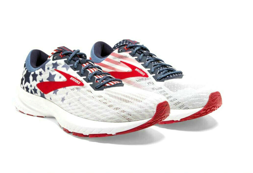 NEW Brooks Launch 6 Stars Stripes Old Glory 4th of July Women/'s Shoes Sz 7