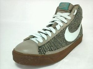 NIKE High Top RARE Tweed Brown/Mint Green 2005 Shoes Sneakers US 9.5 UK 7 EU 41