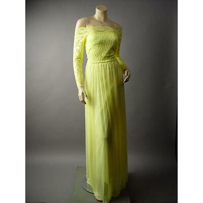 Yellow Lace Off The Shoulder Flared Skirt Beauty Belle Ball Gown 224 mv Dress