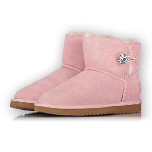 3b692b9a92efab Das Bild wird geladen OOG-Damen-Leder-Boots-Stiefel-MINI-Bailey-Button-