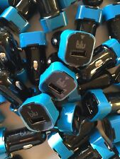 300 Lot blu Car Adapter Usb Port Wholesale New Car Charger for iphone 5 samsung