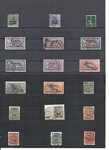Memel-Litauen-1920-1923-Einzelwerte-aus-MiNrn-1-134-o-geprueft-Huylmans-BPP