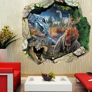 Dinosaur-Land-Boy-Room-Wall-Sticker-Art-Vinyl-Decals-Kids-Room-Wall-Decor-Home