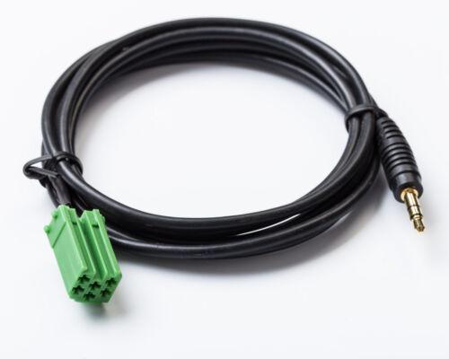 AUX In Adapter passend für RENAULT UPDATE LIST Radio Radiokabel MP3 Klinke