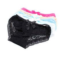 5pcs Cozy Lingerie Sexy Panties Lace Cotton Women's Underwear With Cute Bowknot
