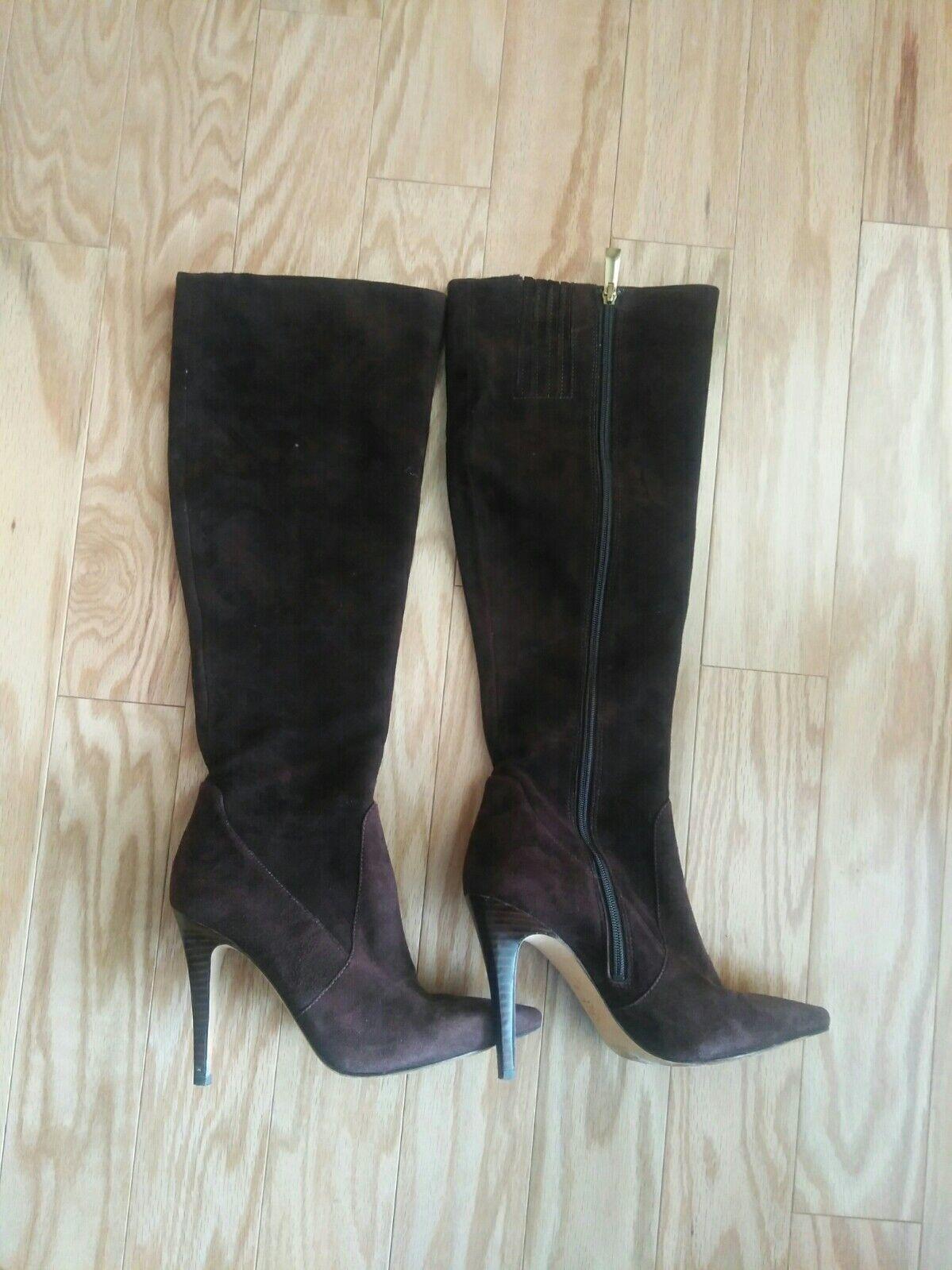 VIA VIA VIA SPIGA brown Suede leather knee high boots  SIZE 4 M   499 7c0ee3