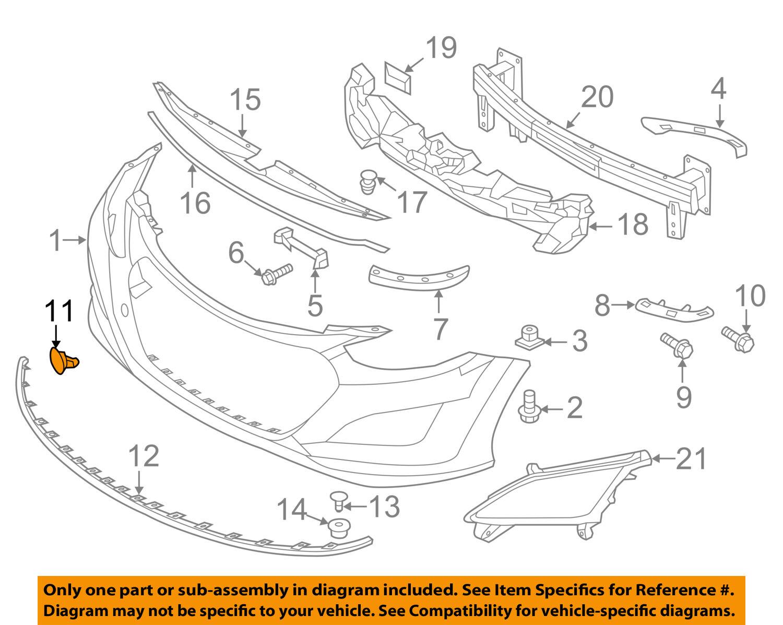 Genuine Hyundai 86588-A5000 Hook Cap Front