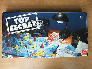 TOP-SECRET-BOARD-GAME-1985-JUMBO-GAMES-100-COMPLETE-4-ALL-FAMILY