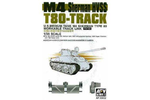 workable AFV Club AF35032 1//35 M4 Sherman HVSS T80-Track Links Steel Type