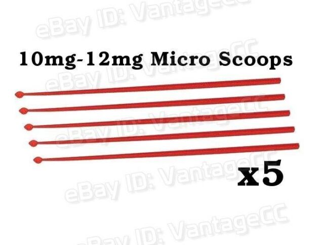 5x 10mg - 12mg Micro Scoops, Red, Supplements, Microscoops