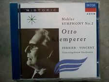 MAHLER - SYMPHONY NO. 2 CONCERTGEBOUW ORCHESTRA KLEMPERER ‎– CD COME NUOVO