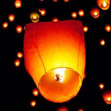 10Pcs White Chinese Sky Fire Lanterns Retro Khoom Fay Kong Ming Flying  Lantern