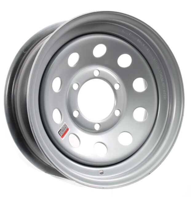 eCustomrim Trailer Wheel Rim 15X6 6 Lug On 5.5 in. Silver Modular 2830 Lb.