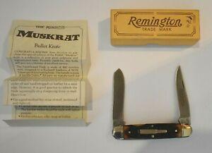 Vintage 1988 Remington Muskrat Bullet Knife R4466 New in Box With Paper Unused