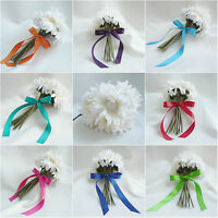 Artificial Silk Ivory Daisies Wedding Bouquet Flower Girl Decoration Bridesmaid