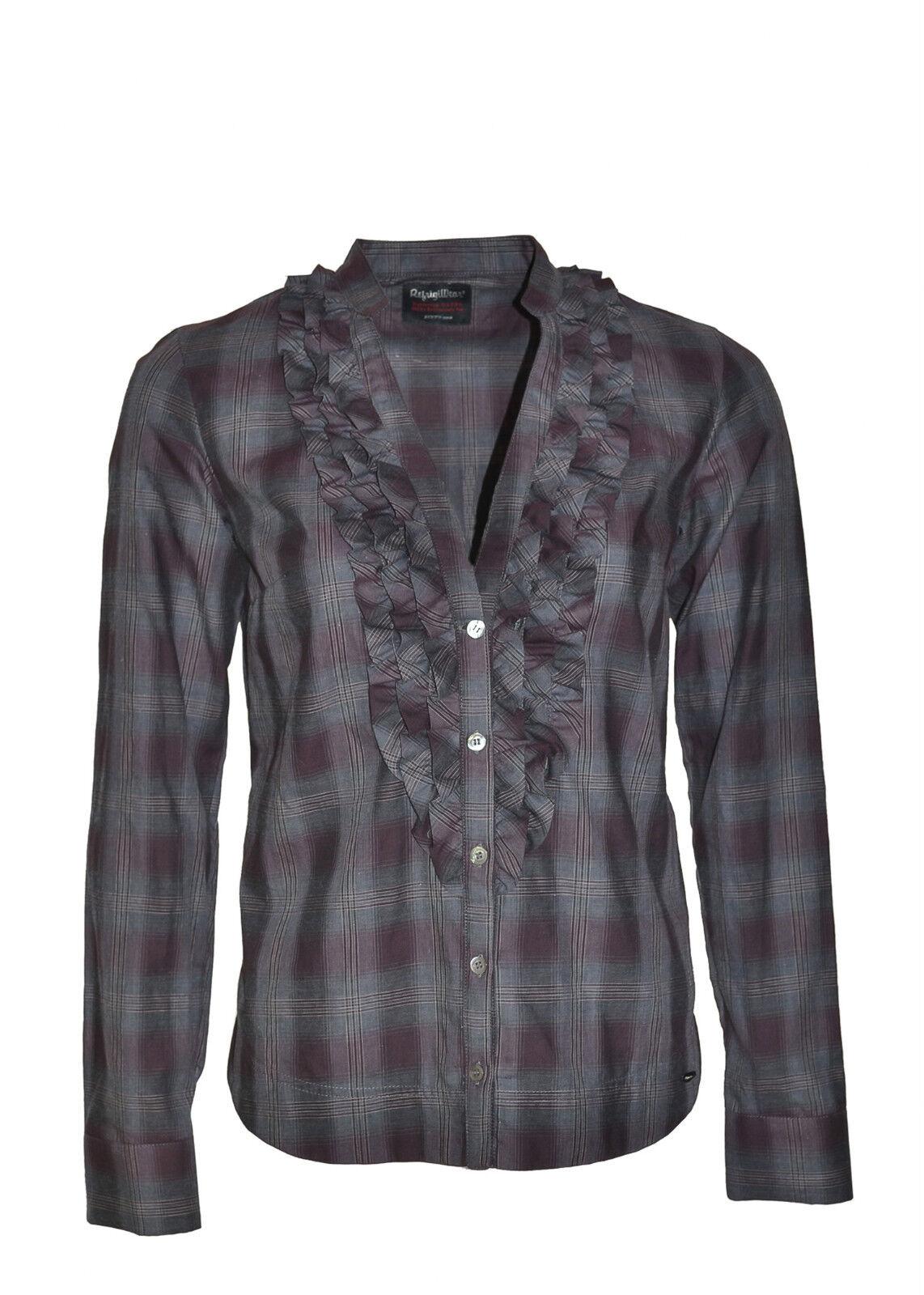 REFRIGIWEAR Camicia con ruches sul fronte made in  in PROMO