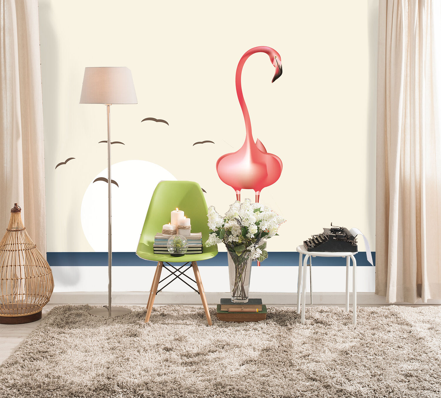 3D Standing Swan 582 Wall Paper Wall Print Decal Wall Deco Art Indoor Wall