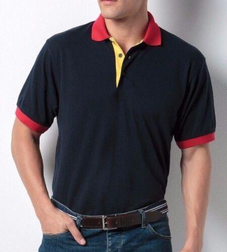 Kustom Kit Men/'s Contrast Collar Polo Shirt Classic Fit Smart Workwear KK404