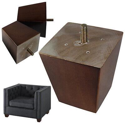 "4 Legs Loveseat Legs Chair S54 SECONDS Sofa 4/"" Black Wood Pyramid Leg"
