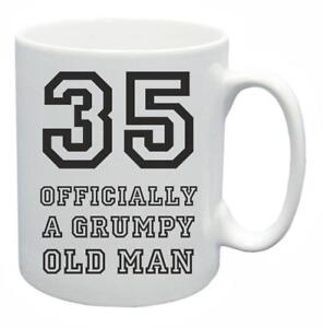 Image Is Loading 35th Novelty Birthday Gift Present Tea Mug Grumpy