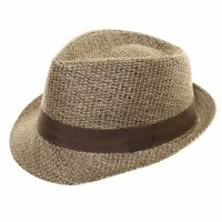 NEW MENS WOMENS LADIES STRAW STYLE TRILBY FEDORA PORK PIE SUN SUMMER HAT