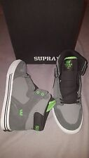 SUPRA VAIDER GREY BLACK LIME WHITE SHOES KIDS SIZE US 5.5 NEW IN BOX S11006K