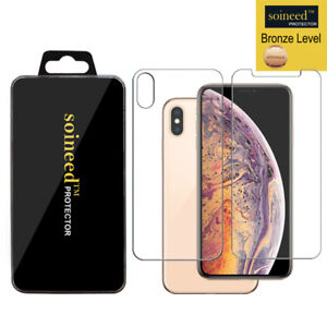 Soineed-FRONT-amp-BACK-Tempered-Glass-Screen-Protector-For-Apple-iPhone-XS-Max-6-5