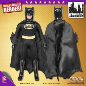 DC-Comics-Batman-Retro-Mego-8-034-BATMAN-figure-Black-Suit-REMOVABLE-COWL-Loose