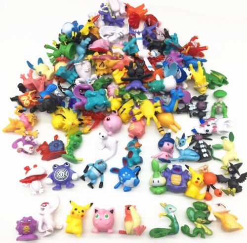 50 PCS POKEMON GO Figure Minifigures Cake Topper Party Favors Pikachu RANDOM USA