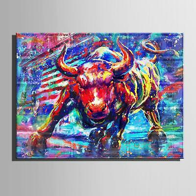 Original Animal Bull Canvas Bull Canvas Print Black And White Wall Art Modern Bull Poster Multi Panel Wall Print Contemporary Art Room Decor