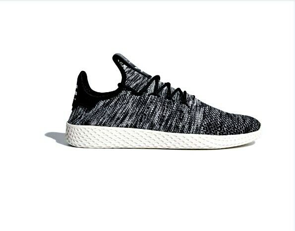 Adidas X Pharrell Williams Tennis Hu Primeknit Shoe Blk /Wht Size 11   CQ2603