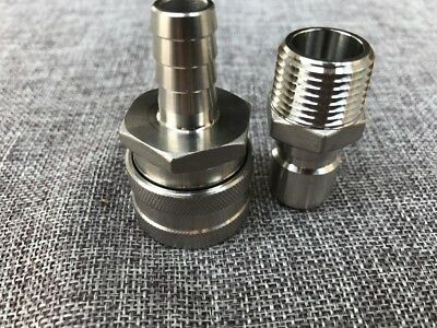 """1//2/""""NPT Wholesale and Stainless Female Quick Disconnect Set Homebrew Fitting"""